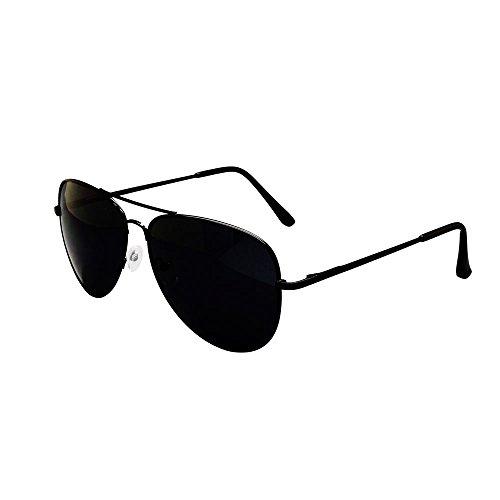 ASVP Shop Sonnenbrille im Pilotendesign, Unisex, im Retro-Stil der 80er Jahre, UV400, schwarz