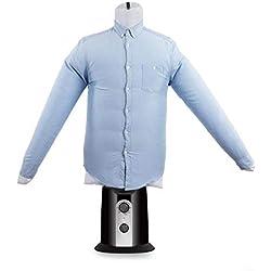 OneConcept ShirtButler • sèche-Chemise Automatique • Repasseur de Chemises • Mannequin de Repassage avec radiateur • 2 en 1 • Facile à sécher • jusqu'à 65°C • Noir