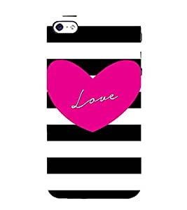 For Apple iPhone 4S love ( good quotes,nice quotes,love,heart,stripes ) Printed Designer Back Case Cover By Awwsme