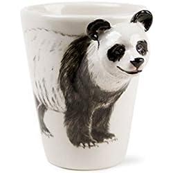 Panda Taza de Café Hecho a Mano 8oz Blanco y negro (10cm x 8cm)