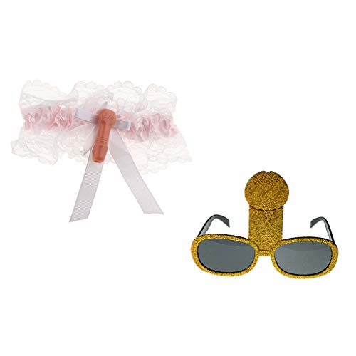 D DOLITY Lustige Willy Penis Sonnenbrille Brillen Spitze Strumpfband Kostüm Hens Hirsche Do Night Party Supplies