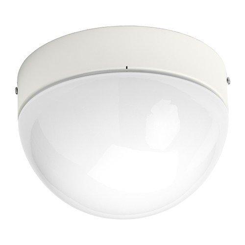 IKEA ÖSTANÅ Decken-/Wandleuchte, weiß, Durchmesser 22 cm, Geeignet für Badezimmer -