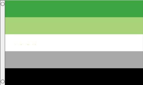 aromantic Stolz 5ft x3ft (150cm x 90cm) Flagge + 59mm knopf-abzeichen (Knöpfe Und Abzeichen)