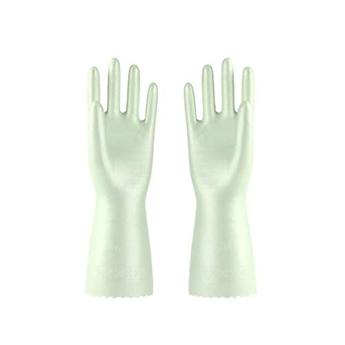 RIsxffp 2 Stück Wasserdichte Handschuhe Rutschfest Latex Reinigung Handschuh Haus Waschwerkzeug Medium grün