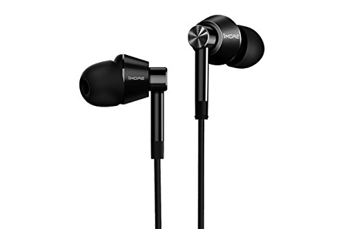 1MORE Dual Driver Earphones with Mic and Remote Hi-Res Certified (Jet Black)