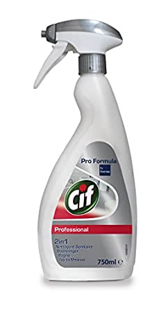 Cif Professional 7517908 Bathroom Cleaner 2 In 1 Cleaner And Descaler Including Chrome Plated