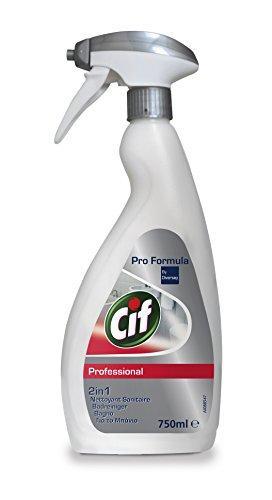 Cif Professional 7517908 Badreiniger 2-in-1 Reiniger und Entkalker, auch für verchromte Oberflächen, Kunststoffe mit Keramik, 0,75 L