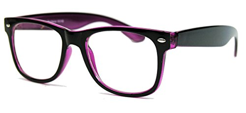 KULT ! klassische Nerdbrille Streberbrille 50er 80er Jahre Klarglas Fashion Brille (Schwarz /...