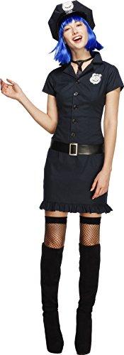 Fever Kollektion Frecher Bulle mit Kleid Schlips Mütze und Gürtel, (Kostüm Polizistin Uk)