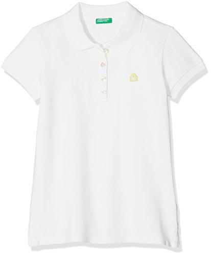 United Colors of Benetton Mädchen Poloshirt H/S Polo Shirt, Weiß, S