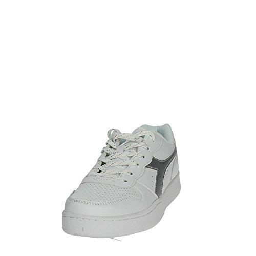Diadora Playground Wn, Sneaker Donna C6103 - BIANCO-ARGENTO