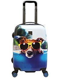 Saxoline blue Happy Dog 4-Rad Kabinen Trolley 53cm 09 happy dogs