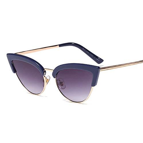 Taiyangcheng Polarisierte Sonnenbrille Süße Damen Retro Cat Eye Sonnenbrille Frauen Vintage Frauen Marke Farbverlauf Sonnenbrille Uv400,C1