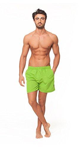 Original OAHOO Herren Badeshorts - Bermudashorts - Viele trendige Farben und Größen S-4XL - Qualität von celodoro Lime Green