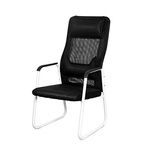 Computerspiel-Stuhl, Kinderzimmer-Stuhl-Schlafzimmer-Stuhl-Studienstuhl-Bürostuhl-Wohnzimmer-Stuhl-Restaurant-Stuhl (Farbe : SCHWARZ)