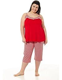 ac89c33c99 Pijama Mujer Verano Tallas Grandes. Varios Estampados. Manga Corta o  Tirantes. Pantalón Pirata