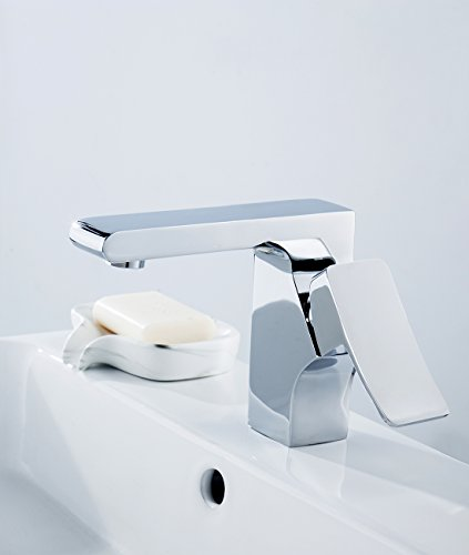 Sccot Grifo Lavabo Grifo Baño Diseño Moderno Alta Calidad Monomando Lavabo Grifo de Cuenca Griferia Lavabo y Baño Aireador Desmontable Ahorro del Agua