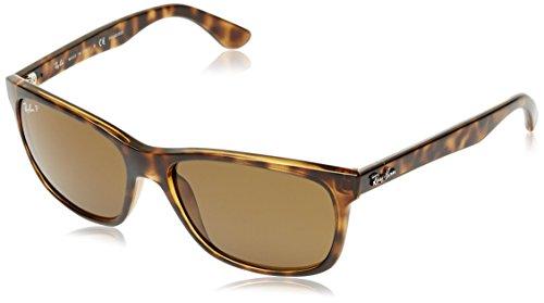 RAYBAN Unisex Sonnenbrille RB4181, (Gestell: Havana, Gläser: Polarized Braun Klassisch 710/83), Large (Herstellergröße: 57)