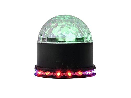 trahleneffekt   Kompakter Spiegelkugel-Effekt mit leuchtender Kugel und LED-Kranz   Discokugel/Spiegelkugel   Klein, kompakt und Leistungsstark   Lichteffekt für Partyräume ()