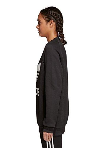 Adidas Oversize, Felpa Donna, Nero