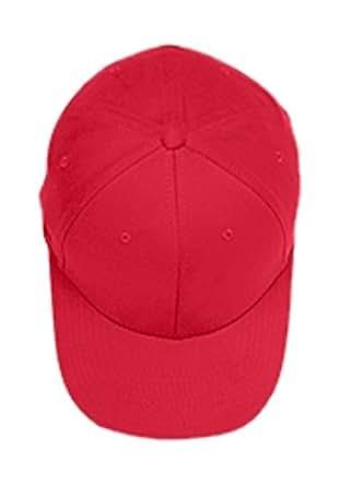 Flexfit Brushed 6-Panel Cap, Red, L/XL