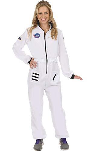 Damen Weiß Raumfahrerin NASA Astronaut Verkleidung Karneval Kostüm Small (Weiß Astronaut Kostüm Für Erwachsene)