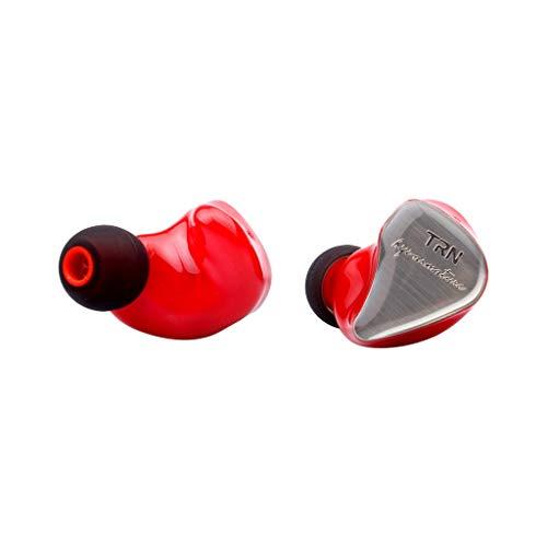 Bluetooth Kopfhore EarHIFI Acht-Einheiten-Ringeisen-Kopfhörer Telefon-Subwoofer, verkabelt, ohne Mikrofon(ohne Weizen) (rot)