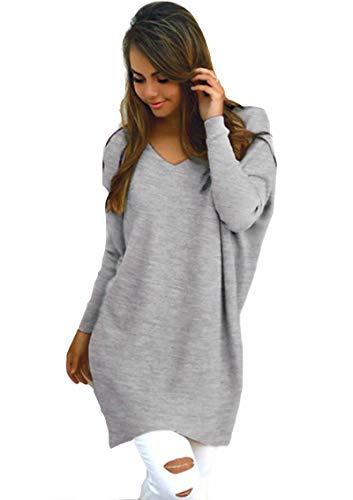 23408887d5c4 Zum Shop · Flying Rabbit Damen Langarmshirt Elegante V-Ausschnitt Pulli  Rundhals Casual Loose Pullover Winter Sweater