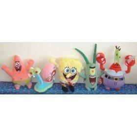 TY Beanie Babies - SPONGEBOB SQUAREPANTS Beanies ( Set of 5 ) (Spongebob, Pat... by Ty (Bob Beanie Babys Sponge)