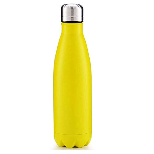 whave wave Edelstahl Trinkflasche Kann 12-24 Stunden Aufbewahrt Werden, Keine Bpa-Edelstahl- Trinkflasche 500 Ml Doppelwandiges Vakuum, Kann Warm Und Kalt Halten, Geeignet Zum Laufen, Radfahren