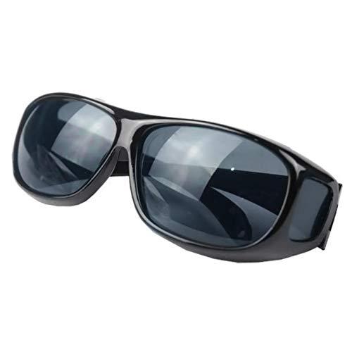 WZYMNTYJ Gelbe Nacht, die HD-Vision-Sonnenbrille Männer über Wrap Around Brille Sonnenbrille männlich UV400 Schutzbrille Brille fährt