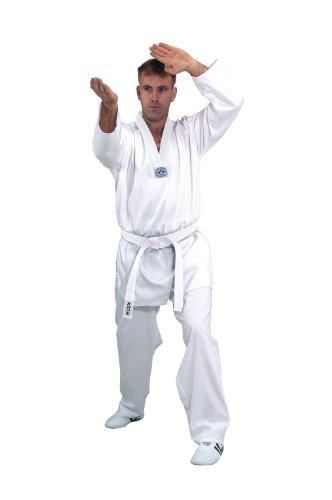 Este traje de Taekwondo es ideal para todas las personas que deseen iniciarse en este deporte y para avanzados. Este traje forma parte de la colección de Kwon desde hace décadas, se ha probado miles de veces y es casi indestructible. El corte de la c...