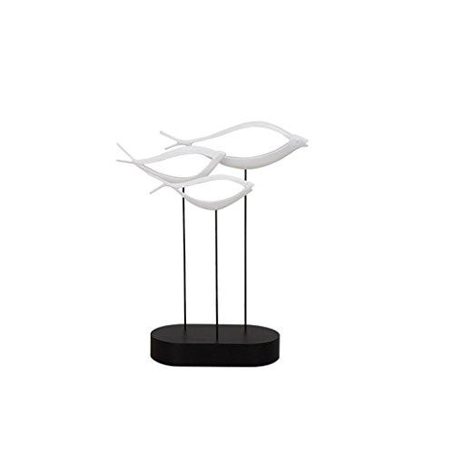 Moderne Simple Chanceux Poisson Poisson Résine Sculpture Décoration Artisanat Creative Salon TV Accueil Cadeaux Artisanat Ornements GAOLILI (taille : A)