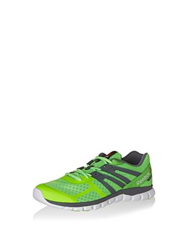 Reebok Sublite Xt Cushion Mt, Chaussures de Running Entrainement Homme, Noir Vert / gris / blanc (vert solaire / alliage / blanc)