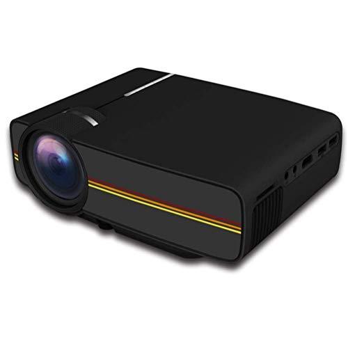 DBGS 1080P Video-Projektoren, 5000 Lumen HD Videoprojektor 200 \'\' Home Cinema LCD Film-Projektor Unterstützung HDMI VGA Av USB für Home Entertainment-Party,Schwarz