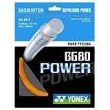 Yonex BG80 Badmintonschlägersaite 0,68 mm, 10 m, Weiß