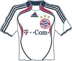 FC Bayern München - Alle Trikotpins im Wandel der Zeit (2006/07) (Deutschland 2006 Fussball Ball)