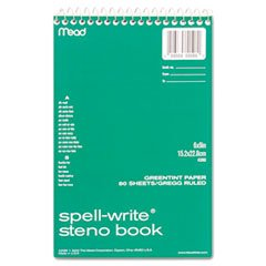spell-write-steno-book-gregg-rule-6-x-9-green-80-sheets-pad-sold-as-1-each