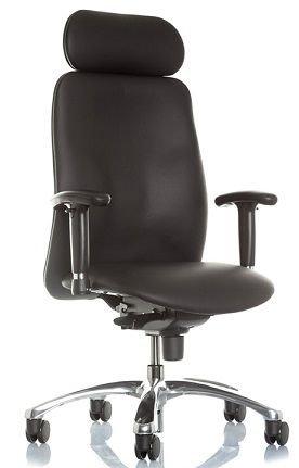 Chefsessel Indiana XXL bis 150 kg mit Armlehnen Schwerlaststuhl Bürostuhl Echtleder Stuhl