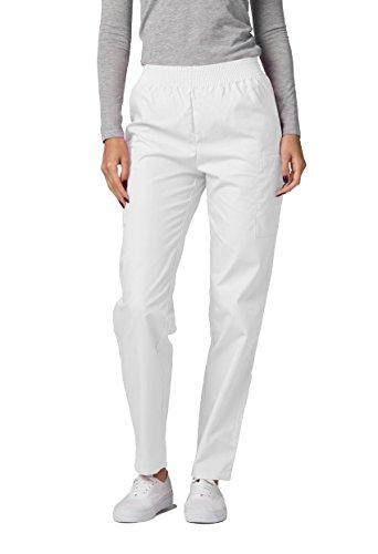 Adar Uniforms Medizinische Schrubb-hosen - Damen-Krankenhaus-Uniformhose 503 Farbe: WHT | Größe: XL (Zahnarzt Kostüm Zubehör)