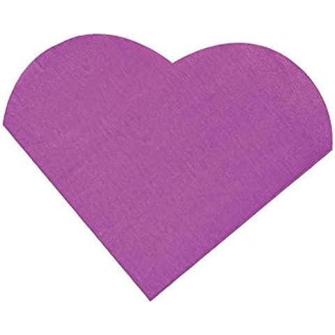 Tovaglioli di carta a forma di cuore viola, 20 pezzi