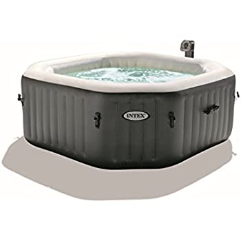 intex octagonal pure spa 4 person bubble therapy hot tub. Black Bedroom Furniture Sets. Home Design Ideas