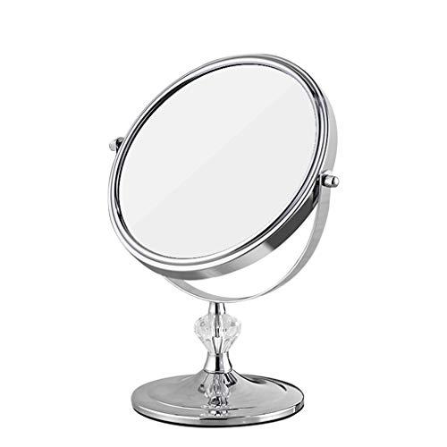 HZH Spiegel Kupfer Desktop Kosmetikspiegel Europäischen Stil Büro Schmuck Shop Tragbare Doppelseitige High-Definition Dressing Spiegel