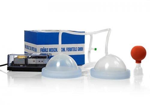 Fröhle Busensaugschalen Set mit elektrischer Pumpe - CUP D - Brustvergrösserung