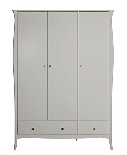 Steens Baroque Robe French Louis Grey 3 Door 2 Drawer Wardrobe Best Price and Cheapest