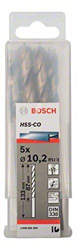 BOSCH 2 608 585 899  - BROCAS METALICAS HSS-CO  DIN 338 - 10 2 X 87 X 133 MM (PACK DE 5)