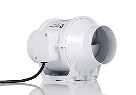 Hon&Guan 100mm Extracteur Ventilateur Conduit en Ligne Super Léger et Silencieux