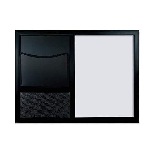 Q.AWB Message Board Signs Message Board Kreidetafeln Magnetic Whiteboard Cloth Aufbewahrungstasche Cork Board Multifunction, schwarz, 2 Styles (Farbe: A, Größe: 60x45cm)