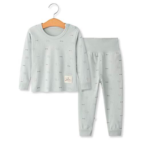Natürliche Thermal-unterwäsche (100% Baumwolle Baby Jungen Mädchen Pyjamas Set Langarm Nachtwäsche (6M-5Jahre) (Tag55 (12-24 Monate), Muster 9))