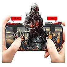 [Neueste Version] Mobile Game Controller, Empfindliche Shoot und Ziel Tasten L1R1Für pubg/Messer Out/Rules Of Survival/fornite, pubg Mobile Game Joystick, Handy Game Controller für Android iOS (1Paar)